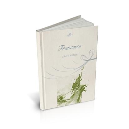 libro bomboniera citazioni spirituali battesimo mela cartonato